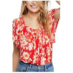 NEW Free People Baja Babe Cold Shoulder Top